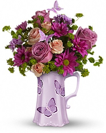 Teleflora's Butterfly Pitcher Bouquet Bouquet