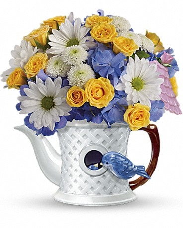 Teleflora's Peek-a-Bird Bouquet Flower Arrangement