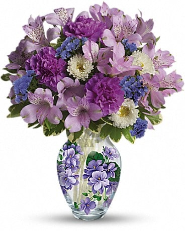 Telefloras sweet violet bouquet by robins flowers gifts telefloras sweet violet bouquet bouquet negle Choice Image