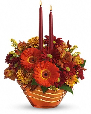 Teleflora's Autumn Artistry Centerpiece Flower Arrangement