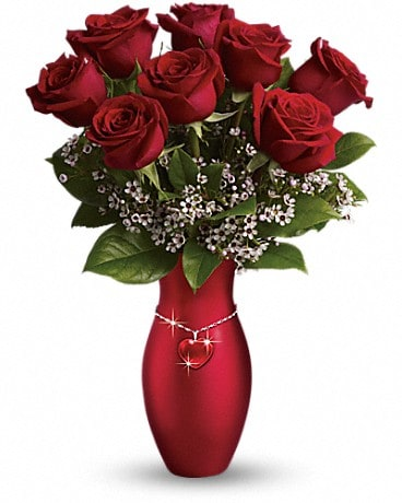 Teleflora's All My Heart Bouquet - Red Roses Bouquet