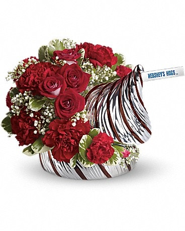 HERSHEY'S HUGS™ Bouquet by Teleflora Flower Arrangement