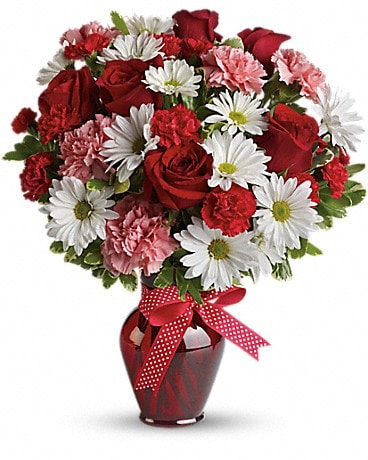 Hugs and Kisses Bouquet with Red Roses Bouquet