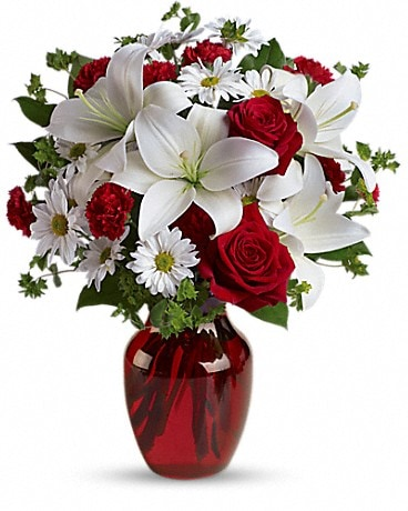 Be My Love Bouquet with Red Roses by John Wolf Bouquet