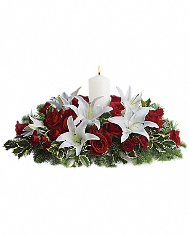 Luminous Lilies Centerpiece Bouquet