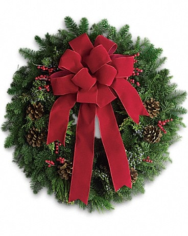 Classic Holiday Wreath Bouquet