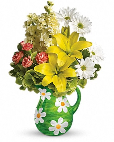 Teleflora's Pitcher of Spring Bouquet