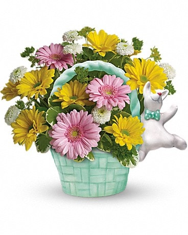 Teleflora's Send a Hug™ Bunny Hop Flower Arrangement