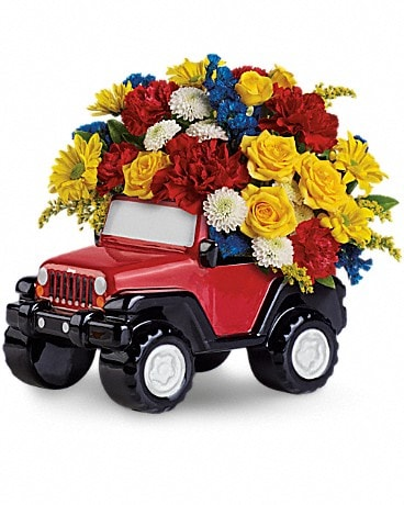 Jeep® Wrangler King Of The Road by Teleflora Flower Arrangement