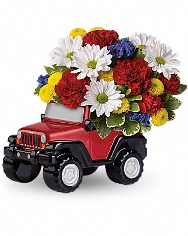Jeep® Wrangler Blazing Trails Bouquet by Teleflora Flower Arrangement