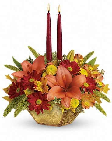 Teleflora's Autumn Reflections Centerpiece Flower Arrangement