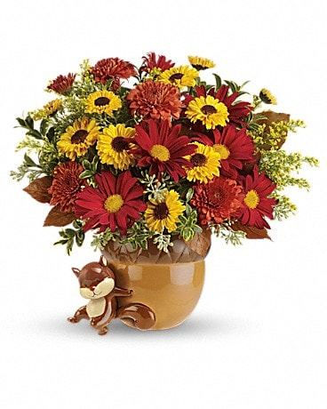 Teleflora's Send a Hug? Squirrel Away Bouquet Flower Arrangement