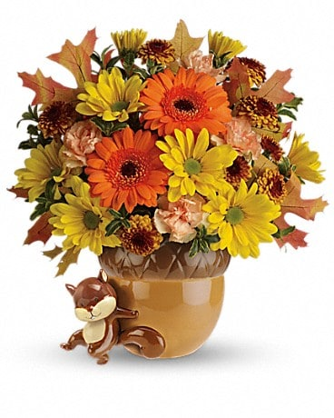 Teleflora's Send a Hug™ Fetching Fall Bouquet Flower Arrangement