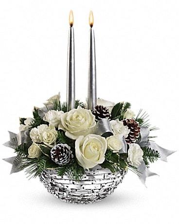 Christmas flowers delivery rock island il colman florist telefloras splendid new year centerpiece mightylinksfo