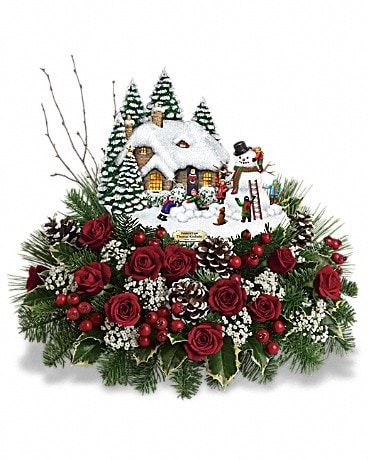 Thomas Kinkade's Winter Wonder by Teleflora Flower Arrangement