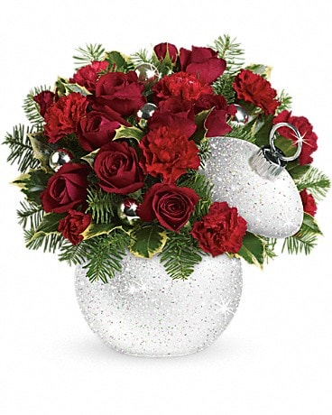 Teleflora's Shimmering Snow Bouquet Flower Arrangement