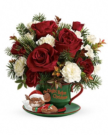 Teleflora's Send a Hug Waiting For Santa Flower Arrangement