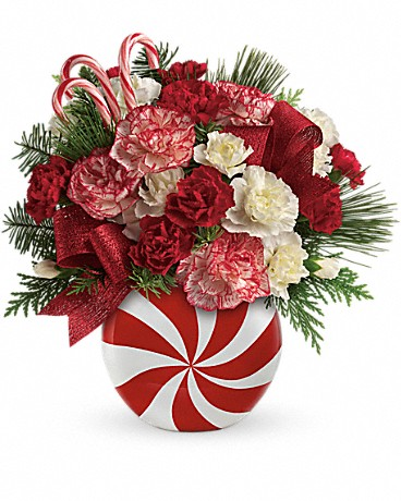 Teleflora's Peppermint Christmas Bouquet Bouquet