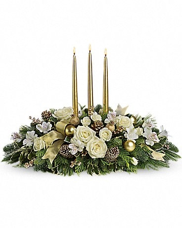 Royal Christmas Centerpiece Bouquet