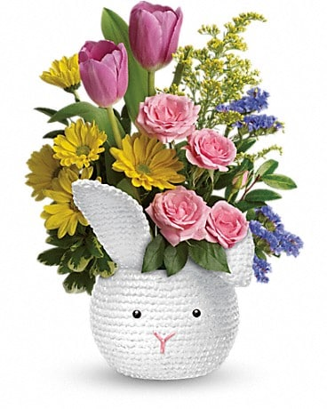 Teleflora's Cuddle Bunny Bouquet Flower Arrangement
