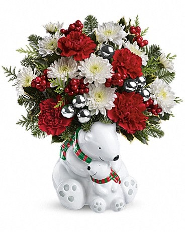Teleflora's Send a Hug® Cuddle Bears Bouquet