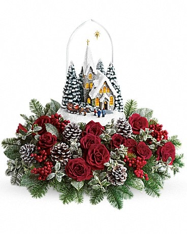 Thomas Kinkade's Starry Night by Teleflora Flower Arrangement