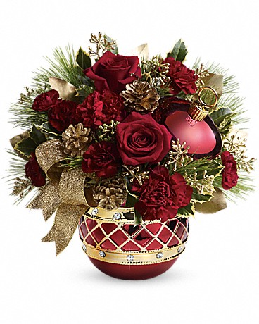 Teleflora's Jeweled Ornament Bouquet Bouquet