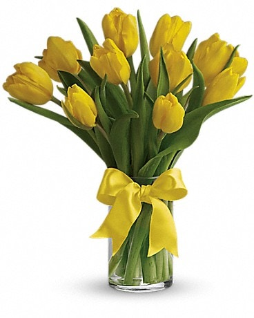 Sunny Yellow Tulips #T140-1A Bouquet