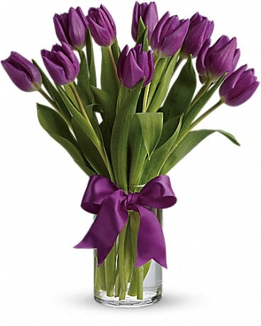 Passionate Purple Tulips (T148-2A) Bouquet