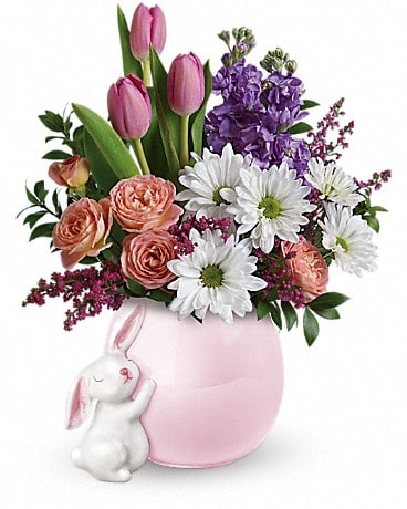 Teleflora's Send a Hug® Bunny Love Bouquet Flower Arrangement