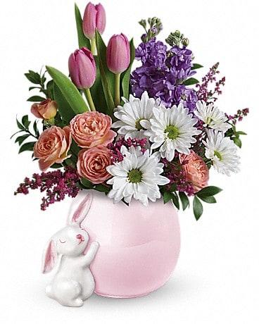 Telefloras Send A Hug Bunny Love Bouquet In Anderson In Toles