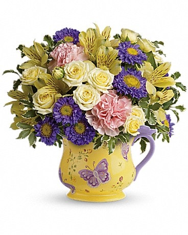 Teleflora's Sunbeams And Butterflies Bouquet Bouquet