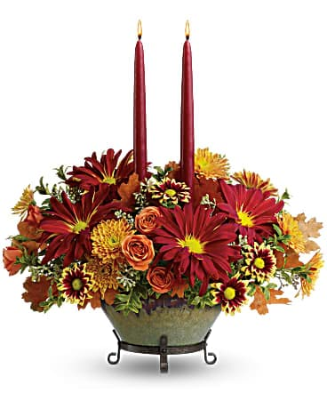 Teleflora's Tuscan Autumn Centerpiece Bouquet