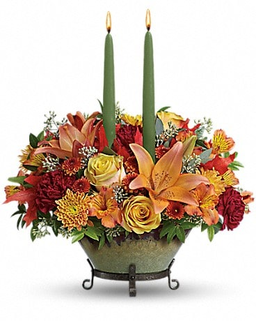 Teleflora's Golden Fall Centerpiece