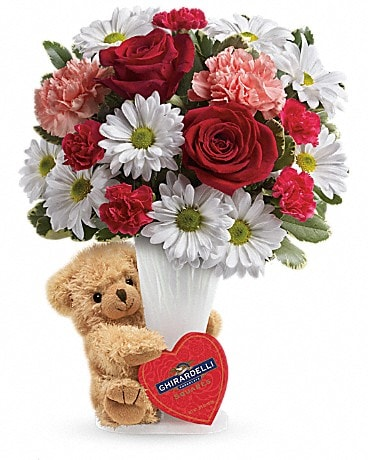 Teleflora's Send a Hug® Bear Your Heart Bouquet Bouquet
