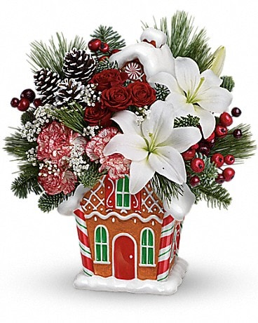 Teleflora's Candy Cottage Bouquet Bouquet