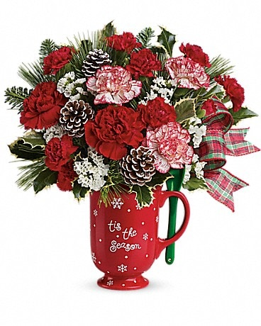 Teleflora's Warm Holiday Wishes Bouquet Bouquet
