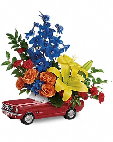 Alfa's Living The Dream '65 Ford Mustang Flower Arrangement