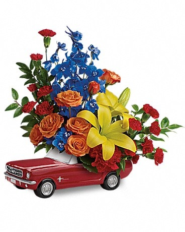 Living The Dream '65 Ford Mustang by Teleflora Flower Arrangement