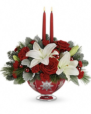 Teleflora's Merry Memories Centerpiece Bouquet