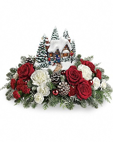 Thomas Kinkade's Home Sweet Holidays Flower Arrangement