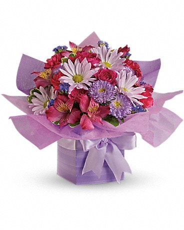 Teleflora's Lovely Lavender Present Flower Arrangement