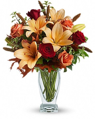 Teleflora's Fall Fantasia - by Lary's Florist & De Bouquet
