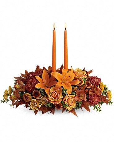 Family Gathering Centerpiece (T169-1A) Flower Arrangement