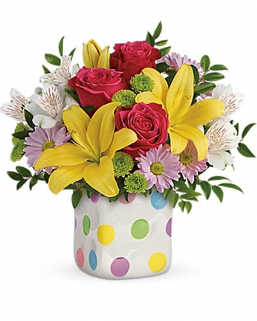 Summer bouquets delivery white bear lake mn white bear floral shop 4795 telefloras delightful dots bouquet mightylinksfo