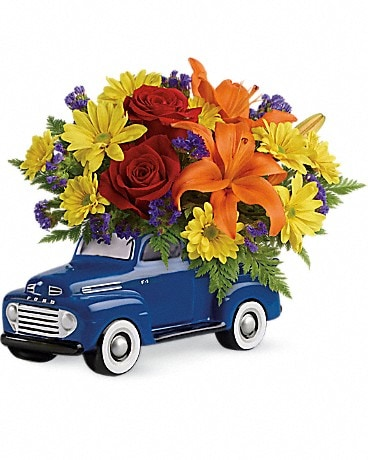 Vintage Ford Pickup Bouquet by Teleflora (T16F100A Bouquet