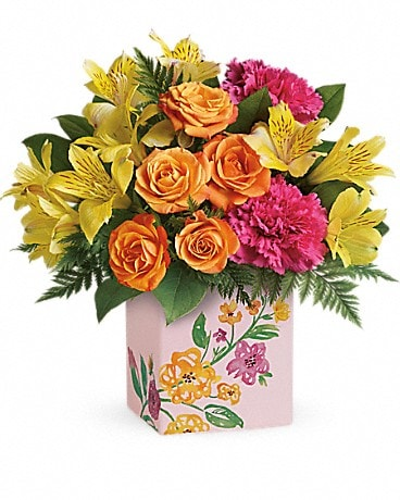 Teleflora's Painted Blossoms Bouquet Bouquet