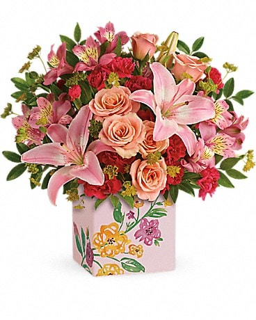 Teleflora's Brushed With Blossoms Bouquet