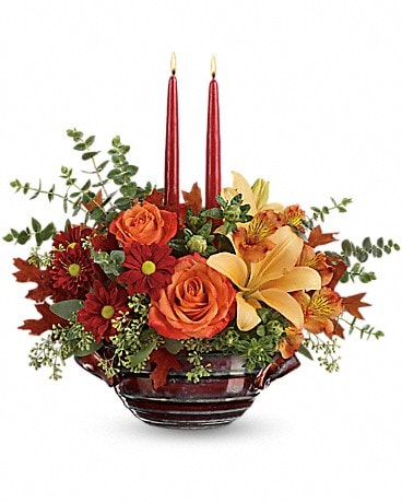 Teleflora's Autumn Gathering Centerpiece Flower Arrangement