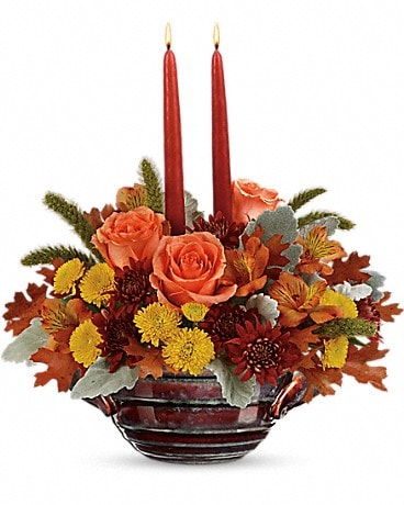 Teleflora's Celebrate Fall Centerpiece Flower Arrangement